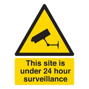 This Site Is Under 24 Hour Surveillance - Portrait