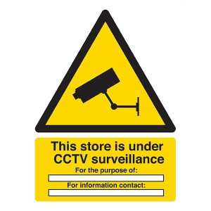 This Store Is Under CCTV Surveillance - Portrait