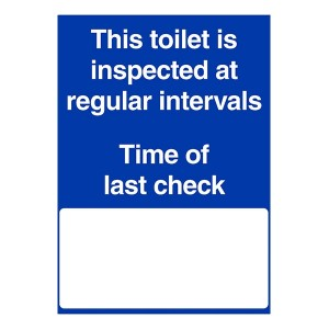 This Toilet Is Inspected At Regular Intervals - Portrait