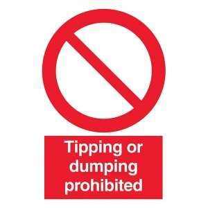 Tipping Or Dumping Prohibited - Portrait