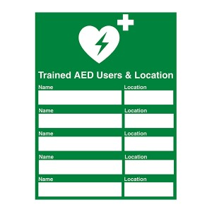 Trained AED Users And Location - Portrait