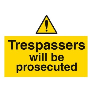 Trespassers Will Be Prosecuted - Landscape - Large