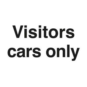 Visitor Cars Only - Landscape - Large
