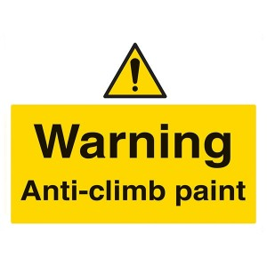Warning Anti-Climb Paint - Landscape - Large