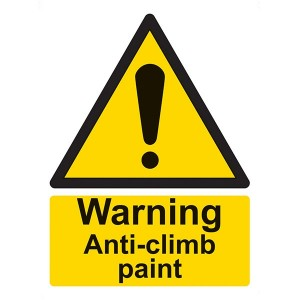 Warning Anti-Climb Paint - Portrait