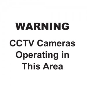 Warning - CCTV Cameras Operating In This Area - Landscape - Large