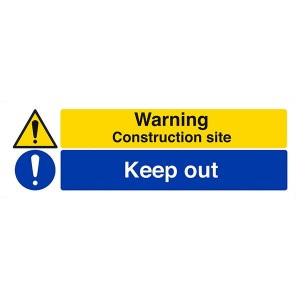 Warning Construction Site / Keep Out - Landscape