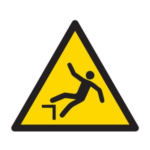 Warning Drop Symbol - Square