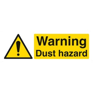 Warning Dust Hazard - Landscape