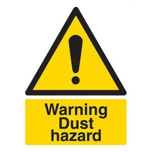 Warning Dust Hazard - Portrait