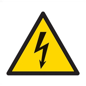 Warning Electric Symbol - Square