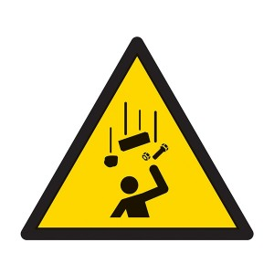 Warning Falling Objects Symbol - Square