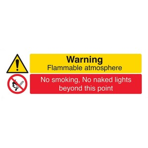 Warning Flammable Atmosphere / No Smoking. No Naked Lights  - Landscape