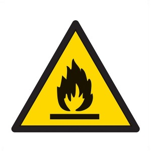 Warning Flammable Symbol - Square