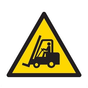 Warning Forklift Trucks Symbol - Square