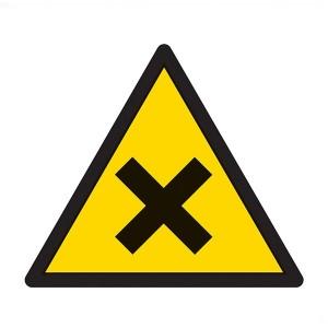 Warning Harmful Symbol - Square