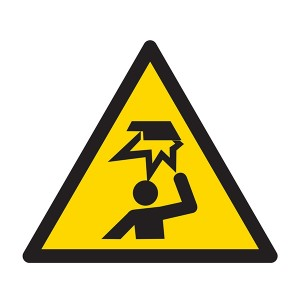 Warning Mind Your Head Symbol - Square