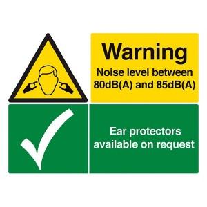 Warning Noise Level / Ear Protectors On Request - Landscape - Large