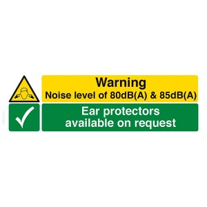 Danger Noise Level / Protectors Available - Landscape