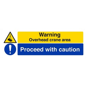 Warning, Overhead Crane Area / Proceed With Caution - Landscape