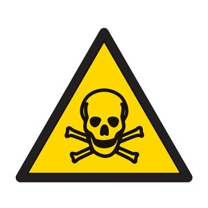 Warning Poison Symbol - Square