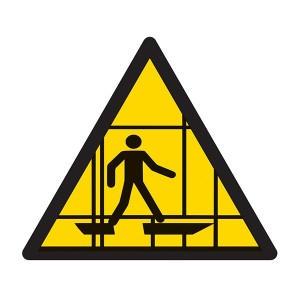 Warning Scaffolding Symbol - Square
