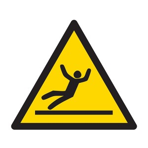 Warning Slippery Surface Symbol - Square