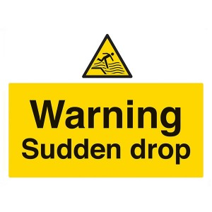 Warning Sudden Drop - Landscape - Large