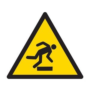Warning Trip Hazard Symbol - Square