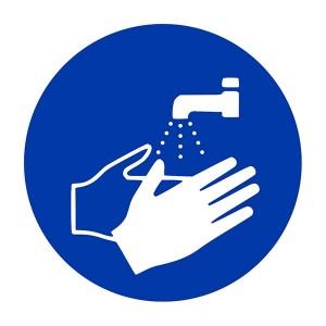 Wash Hands Symbol - Square