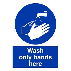 Wash Only Hands Here - Portrait