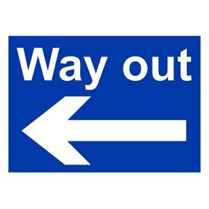 Way Out Arrow Left - Landscape - Large