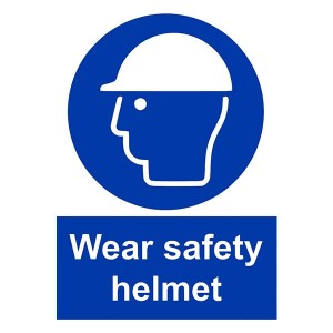 Wear Safety Helmet - Portrait