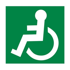 Wheel Chair Logo Facing Left - Square