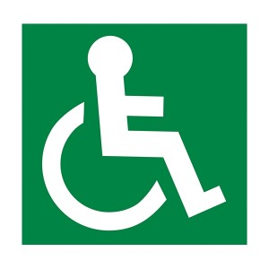 Wheel Chair Logo Facing Right - Square