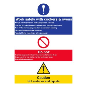 Work Safely With Cookers And Ovens Do not Use Defective Equipment - Portrait