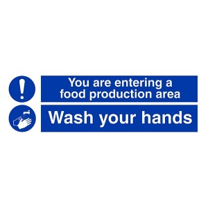 Food Production Area - Wash Your Hands - Landscape