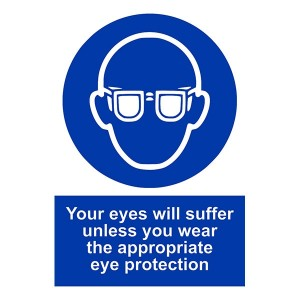 Your Eyes Will Suffer Unless You Wear The Appropriate Eye Protection - Portrait