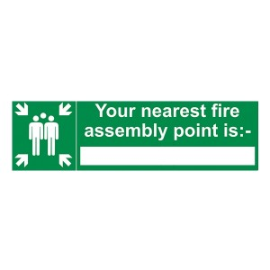 Your Nearest Fire Assembly Point Is - Landscape